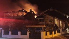 Kocaeli'de üç katlı binada çıkan yangın söndürüldü