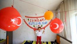 Trakya'da çocuklar 23 Nisan Ulusal Egemenlik ve Çocuk Bayramı'nı evlerinde kutladı
