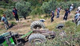 Bilecik'in Osmaneli ilçesinde devrilen traktörün altında kalan kişi öldü