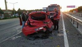 Sakarya'daki trafik kazalarında 1 kişi öldü, 2 kişi yaralandı