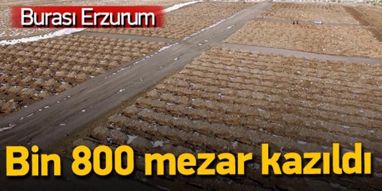 Erzurum'da bin 800 mezar kazıldı