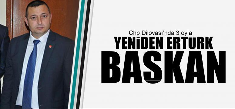 Ertürk 3 oyla yeniden Başkan