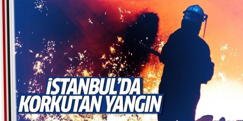 İstanbul'da korkutan çatı yangını