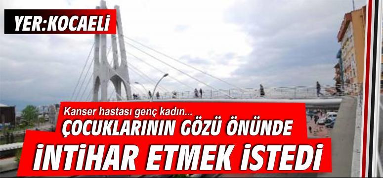 Köprüde intihar girişimi