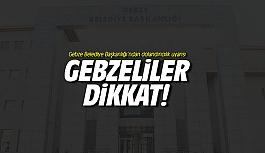Gebze Belediye Başkanlığı'ndan dolandırıcılık uyarısı