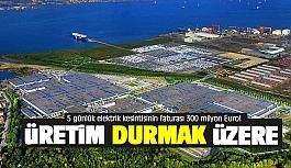 5 günlük elektrik kesintisinin faturası 300 milyon Euro!