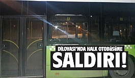 Dilovası'nda halk otobüsüne taşlı saldırı!