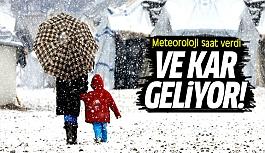 Meteoroloji saat verdi!