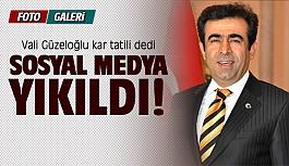 Vali Güzeloğlu kar tatili dedi sosyal medya yıkıldı
