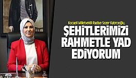Radiye Sezer Katırcıoğlu: Şehitlerimizi rahmetle yad ediyorum