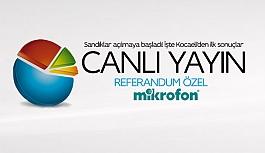 Kocaeli ve Türkiye canlı seçim sonuçları! 2017 Refendum