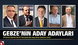 24 Haziran seçimleri Gebze'nin aday adayları