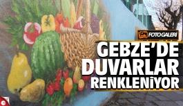 Gebze'de duvarlar renkleniyor