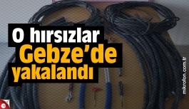 Kablo hırsızları sonunda yakalandı