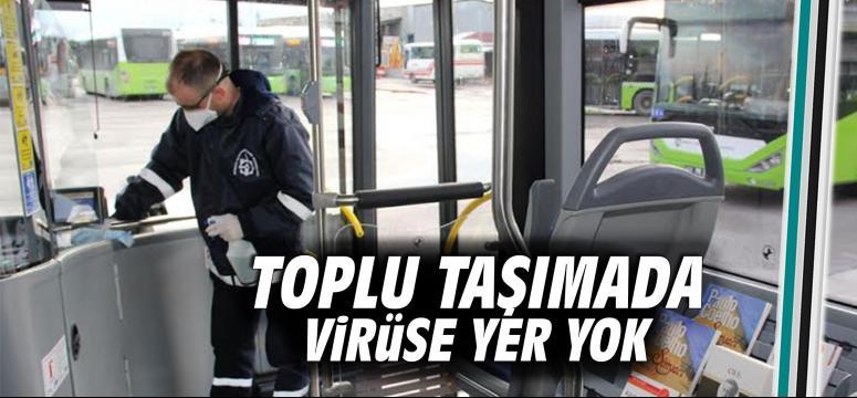 Toplu taşımada virüse geçit yok