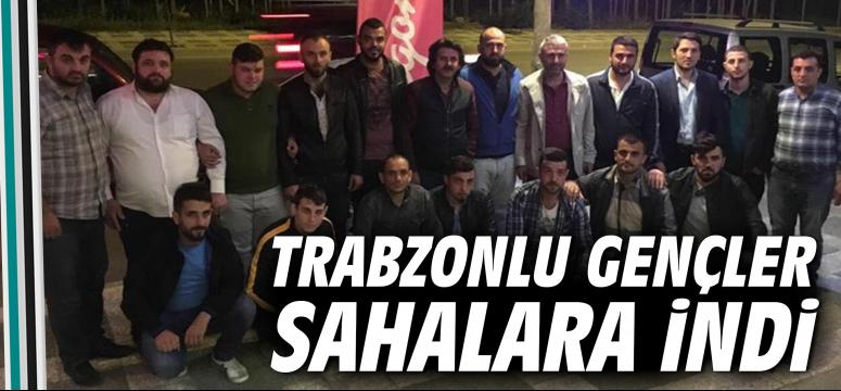 Trabzonlu Gençler Sahalara İndi