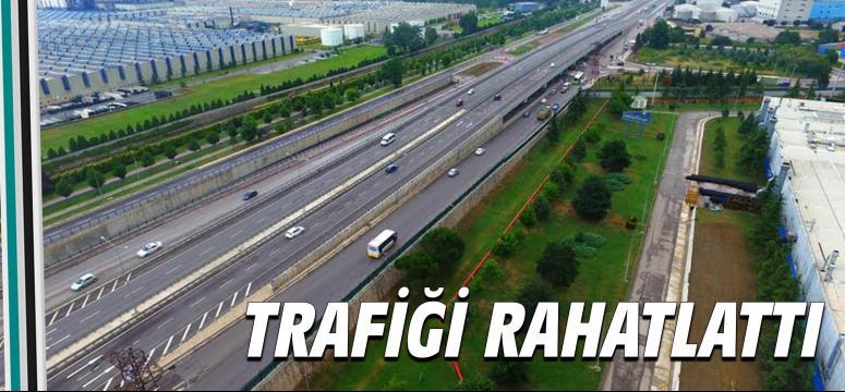 O Kavşak trafiği rahatlattı