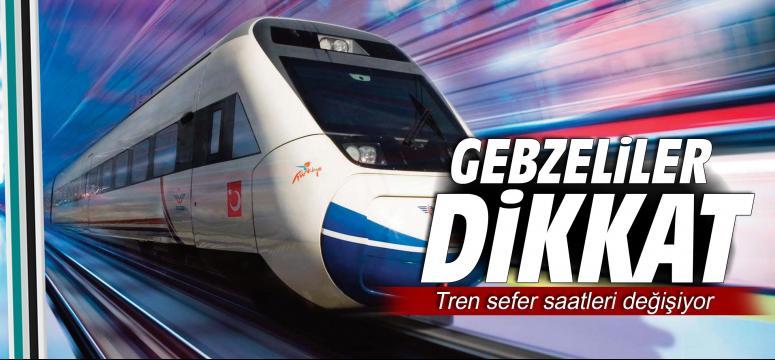 Tren sefer saatleri değişiyor