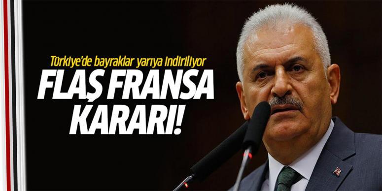 Türkiye'de bayraklar yarıya indiriliyor