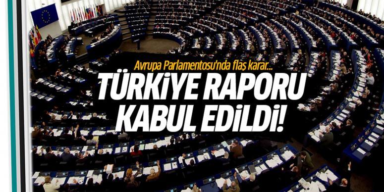 Türkiye raporu kabul edildi