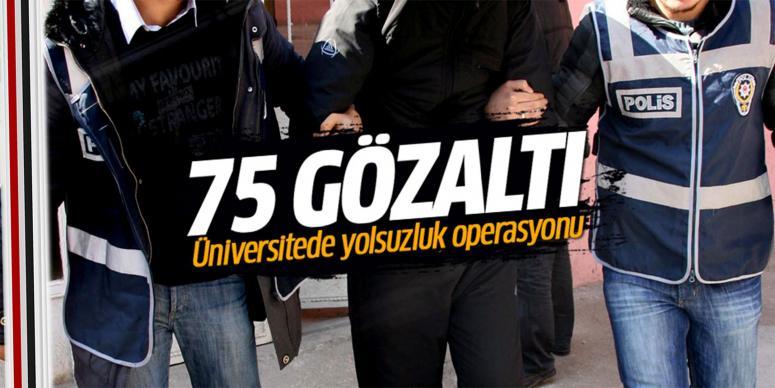 Üniversitede yolsuzluk operasyonu