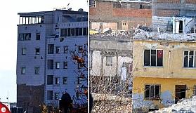 Sur'un kalbindeki binalarda çatışmalı dönemin izleri