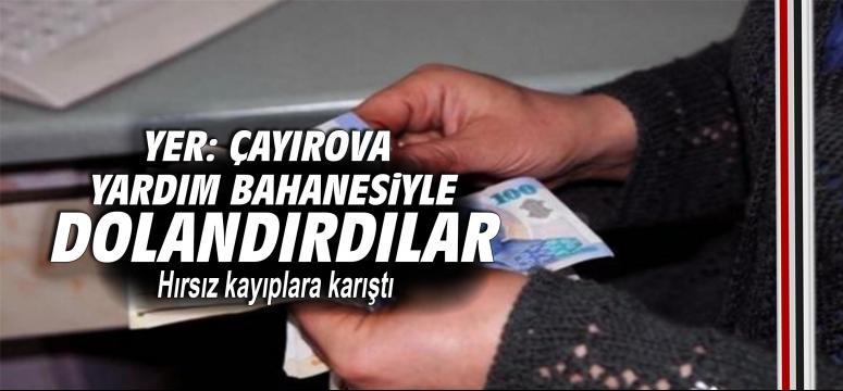 Çayırova'da yaşlı kadını yardım etme bahanesiyle soydular