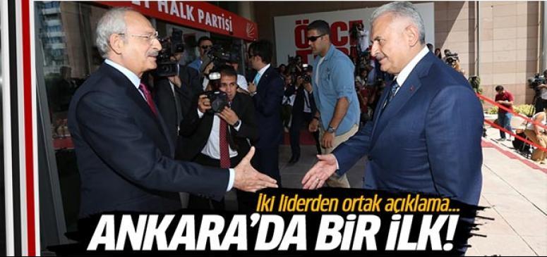 Yıldırım ve Kılıçdaroğlu'ndan ortak açıklama!