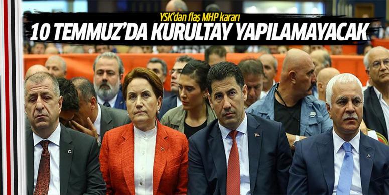 YSK'dan flaş MHP karar!