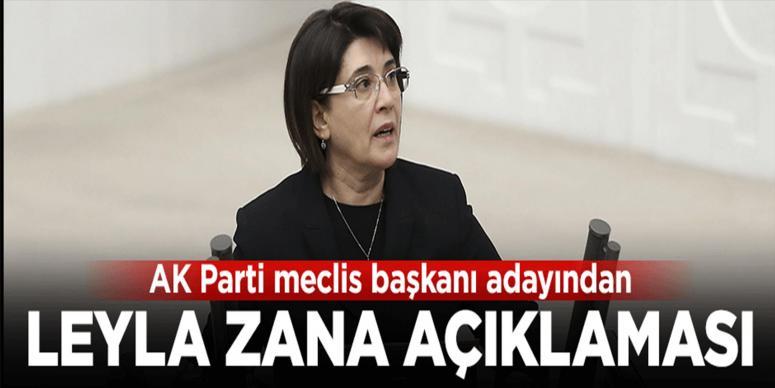 AK Parti'nin Meclis Başkanı adayın'dan Leyla Zana açıklaması