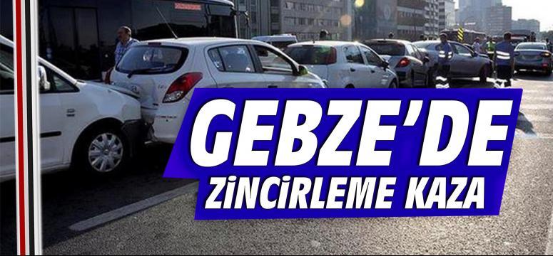 Gebze'de zincirleme kaza